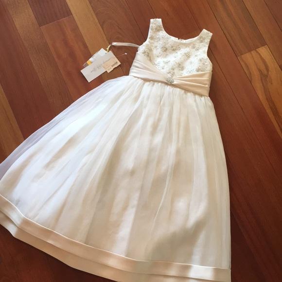 d1e1ff5db7f Ivory Flower Girl Dress